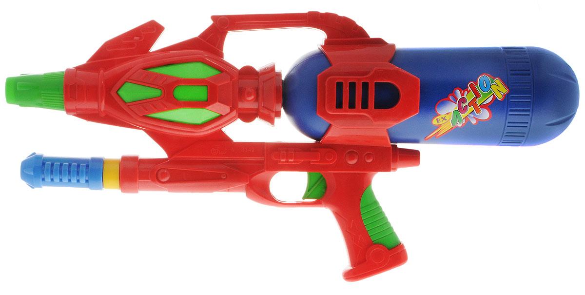 Bebelot Водный автомат Юный пират цвет красный синийBEB1106-021_красный, синий, зеленыйВодный автомат Bebelot Юный пират станет отличным развлечением для детей в жаркую летнюю погоду. Автомат выполнен из прочного и безопасного пластика ярких цветов и невероятно прост в использовании. Заполните резервуар водой и начинайте стрелять! При нажатии на курок автомат выстреливает струей воды. Резервуар для воды съемный, он надежно крепится к автомату при помощи резьбы. Такая игрушка не только порадует малыша, но и поможет ему совершенствовать мелкую и крупную моторику, а также координацию движений. С водным автоматом ваш малыш сможет устроить настоящее водное сражение!