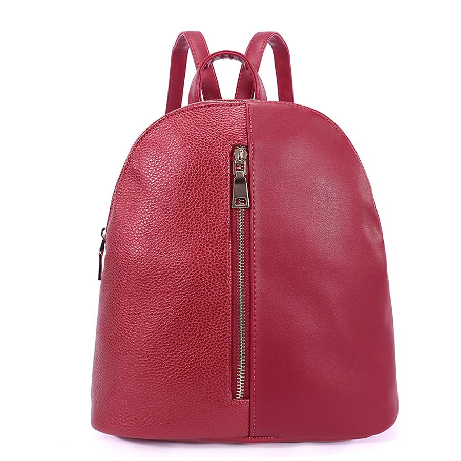Рюкзак женский Ors Oro, цвет: красный. D-178/26D-178/26Рюкзак с одним отделением, на молнии, один передний карман на молнии. Внутренний карман на молнии, карман для телефона, задний карман на молнии