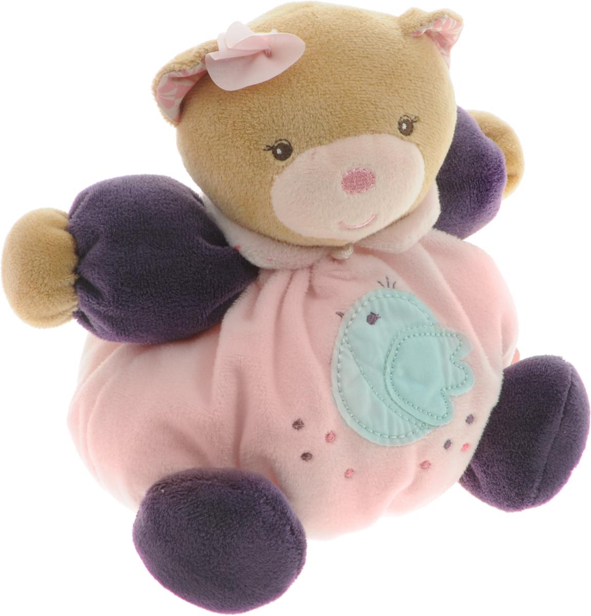 Kaloo Мягкая игрушка Мишка 15 смK969860Великолепный мягкий медвежонок светло-розового цвета Kaloo привлечет внимание малыша и надолго станет его постоянным спутником и любимой игрушкой. Медвежонок изготовлен из нескольких видов ткани, что прекрасно будет развивать тактильные ощущения малыша. На левой лапке у мишки вышит логотип бренда, животик украшен аппликацией с птичкой. Игрушка выполнена из качественных и безопасных для здоровья детей материалов, которые не вызывают аллергии, приятны на ощупь и доставляют большое удовольствие во время игр. Игрушку приятно держать в руках, прижимать к себе и придумывать разнообразные игры. Игры с мягкими игрушками развивают тактильную чувствительность и сенсорное восприятие.