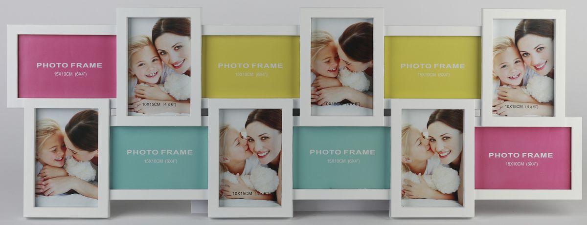 Мультирамка Image Art, на 12 фотографий. PL18-12Image Art PL18-12Мультирамка для фотографий Image Art выполнена из прочного пластика. Рамка состоит из 12 горизонтальных и вертикальных рамок,, которые соединены между собой и каждая из которых защищена стеклом. Рамку можно повесит на стену. Такая рамка не только позволит сохранить на память изображения дорогих вам людей и интересных событий вашей жизни, но и стильно украсит интерьер помещения. Общий размер рамки: 82 х 30 х 2 см. Размер фотографий: 15 х 10 см, 10 х 15 см.
