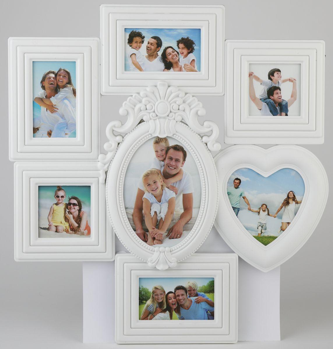 Фоторамка Image Art, для 7 фотографий, 51 х 47 смImage Art PL36-7Фоторамка-коллаж Image Art - прекрасный способ красиво оформить ваши фотографии. Фоторамка выполнена из пластика и защищена стеклом, предназначена для семи фотографий с вертикальным и горизонтальным расположением. Фоторамка подвешивается на стену, для чего с задней стороны предусмотрены специальные петельки. Такая фоторамка поможет сохранить на память самые яркие моменты вашей жизни, а стильный дизайн сделает ее прекрасным дополнением интерьера комнаты. Общий размер фоторамки: 51 х 47 см.