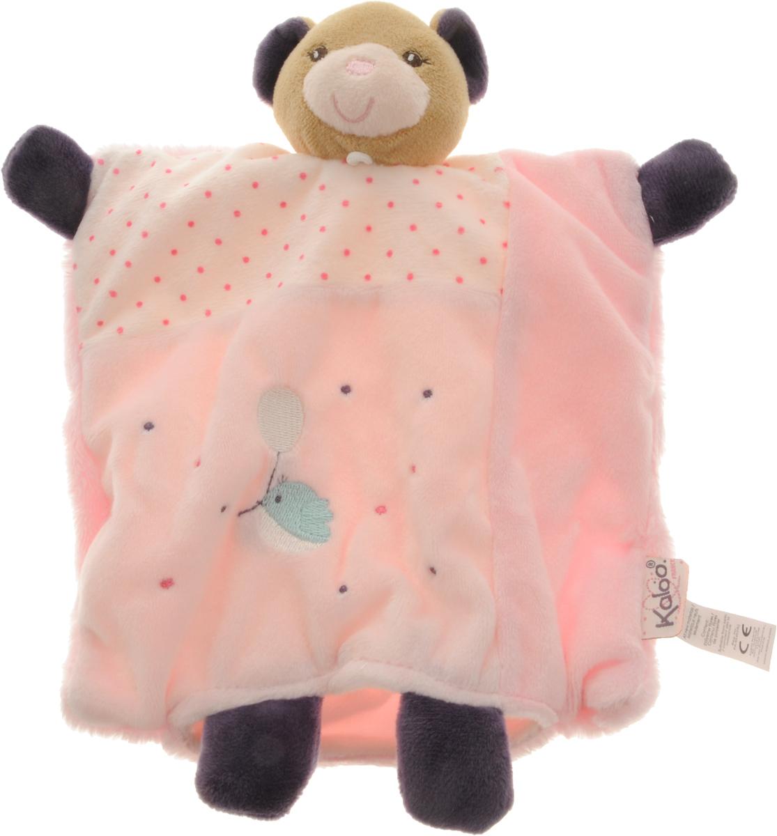 Kaloo Игрушка-комфортер Мишка цвет светло-розовыйK969865Уникальный аксессуар - игрушка-комфортер Kaloo Мишка позволит малышу спокойно и сладко уснуть, и на долгое время станет его постоянным спутником. Особенность игрушки-комфортера состоит в том, что сначала маме необходимо некоторое время подержать игрушку рядом с собой для того, чтобы она впитала материнский запах. После чего игрушку можно дать и малышу. Младенцу будет очень комфортно засыпать с такой игрушкой, она позволит ему быстро успокоиться и сладко заснуть. Со временем комфортер станет не просто игрушкой для сна, но и любимым защитником от плохих сновидений и детских страхов. Игрушку приятно держать в руках и прижимать к себе. Игрушка выполнена из качественных и безопасных для здоровья детей материалов, которые не вызывают аллергии, приятны на ощупь и доставляют большое удовольствие во время игр. Игры с мягкими игрушками развивают тактильную чувствительность и сенсорное восприятие.