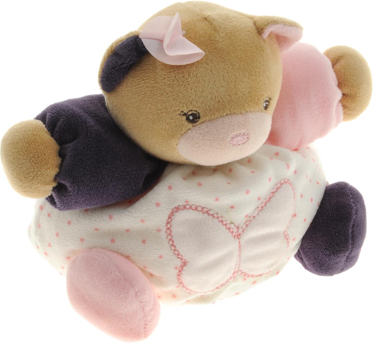 Kaloo Мягкая игрушка Мишка цвет светло-розовый фиолетовый 16 смK969862Мягкая игрушка Kaloo Мишка надолго станет постоянным спутником малыша и его любимой игрушкой. Изделие выполнено из мягкого материала различных цветов и видов, что будет способствовать развитию тактильных ощущений ребенка и цветового восприятия. На левой лапке у мишки вышит логотип бренда, животик украшен аппликацией с бабочкой. Игры с мягкими игрушками развивают тактильную чувствительность и сенсорное восприятие. После стирки изделие не деформируется и не меняет внешний вид. Все игрушки Kaloo прошли множественные тесты и соответствуют мировым стандартам безопасности. Именно поэтому игрушки рекомендованы для детей с рождения, что отличает их от большинства производителей мягких игрушек. Дизайнеры Kaloo продумывают и придают значение каждому этапу в производстве игрушек, начиная от эскиза и заканчивая упаковкой готового изделия.