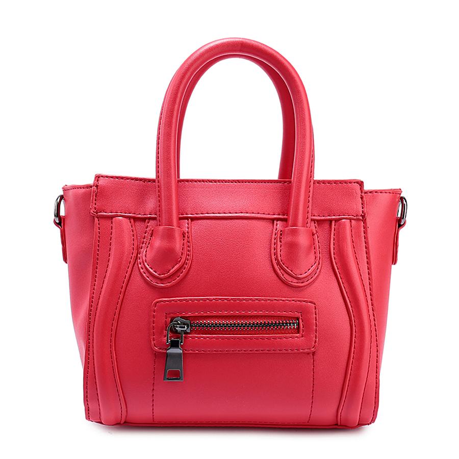 Сумка женская Ors Oro, цвет: красный. D-153/25D-153/25Сумка с одним отделением на молнии, передний карман на молнии, внутренний карман на молнии, карман для телефона