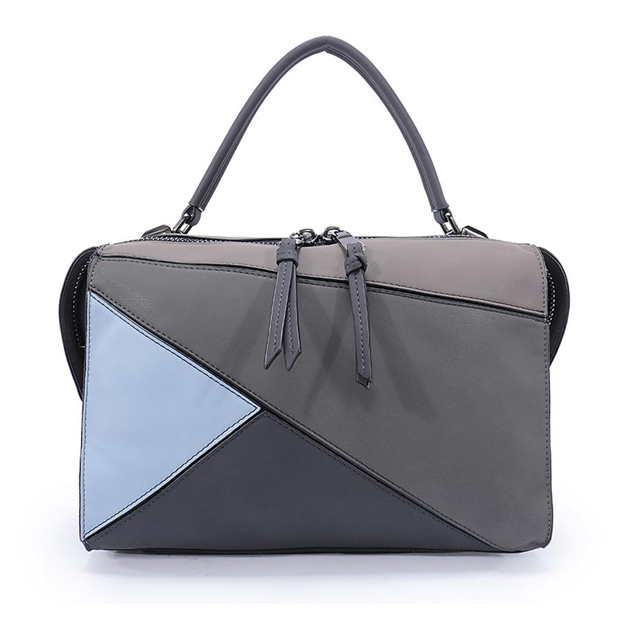 Сумка женская Ors Oro, цвет: серый, голубой. D-160/61D-160/61Сумка с одним отделением, на молнии, внутренний карман на молнии, карман для телефона, карман-перегородка на молнии.