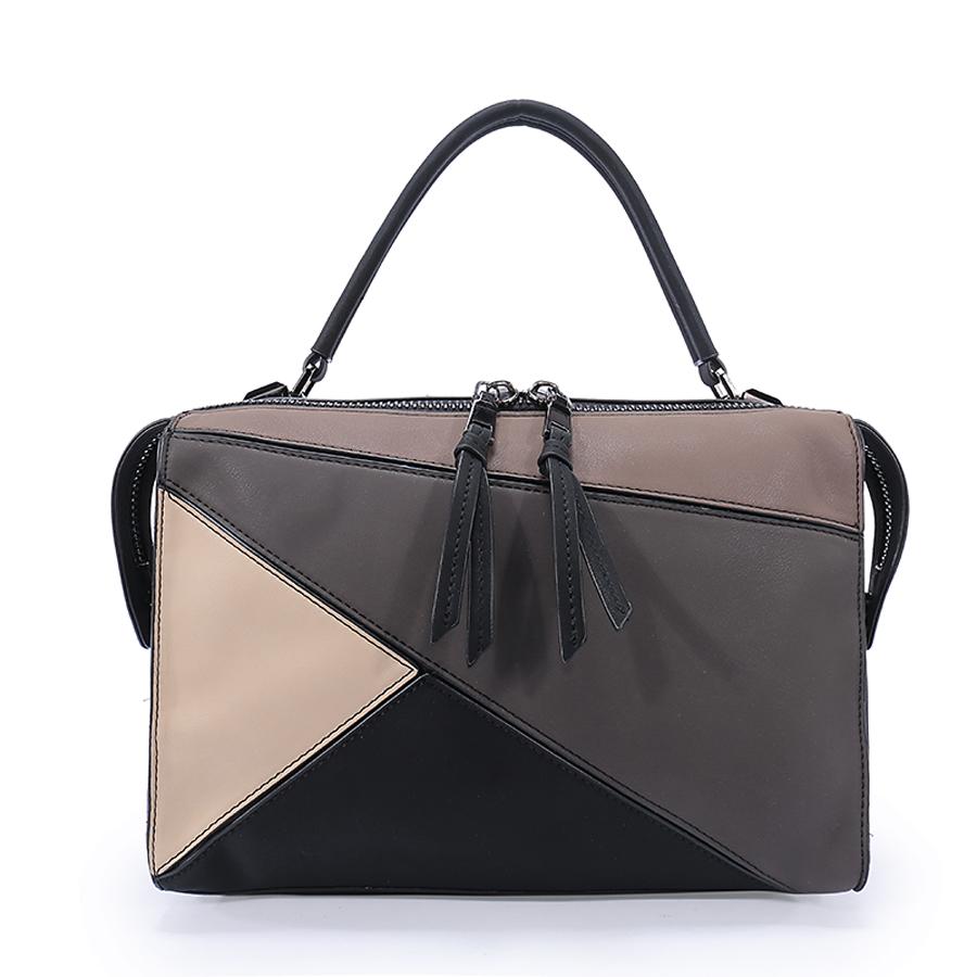 Сумка женская Ors Oro, цвет: черный, бежевый. D-160/63D-160/63Сумка с одним отделением, на молнии, внутренний карман на молнии, карман для телефона, карман-перегородка на молнии.