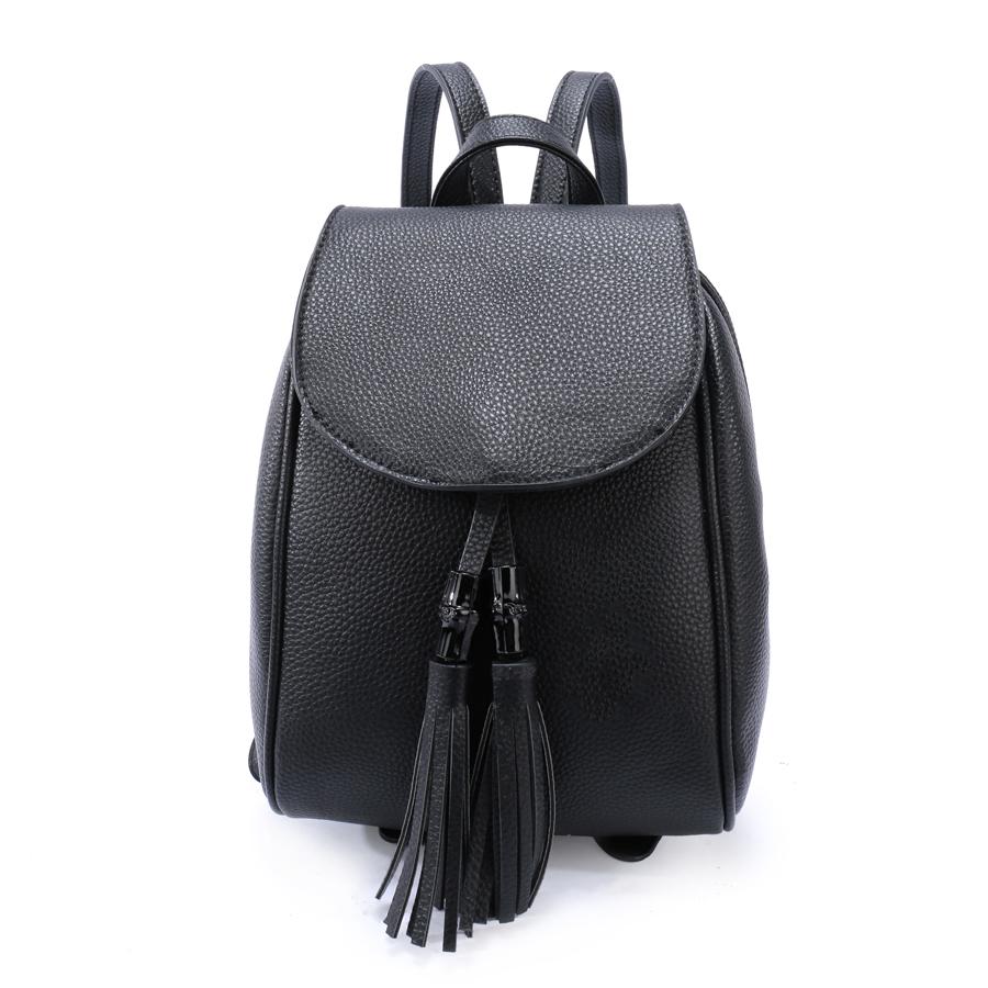 Рюкзак женский Ors Oro, цвет: черный. D-172/59D-172/59Рюкзак с двумя отделениями на молнии,с клапаном на магнитной кнопке, плоский передний кармана. Внутренняя перегородка на молнии, внутренний карман на молнии, карман для телефона, задний карман на молнии
