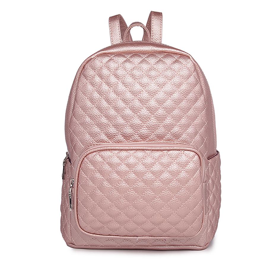 Рюкзак женский Ors Oro, цвет: розовое золото. D-175/35D-175/35Рюкзак с одним отделением, на молнии, один объемный передний карман на молнии, два плоских боковых кармана. Внутренний карман на молнии, карман для телефона
