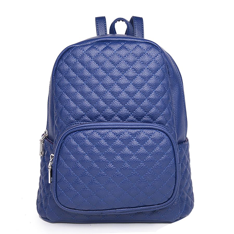 Рюкзак женский Ors Oro, цвет: темно-синий. D-175/50D-175/50Рюкзак с одним отделением, на молнии, один объемный передний карман на молнии, два плоских боковых кармана. Внутренний карман на молнии, карман для телефона