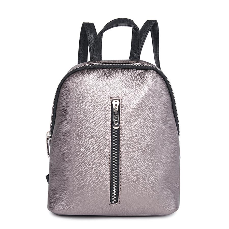 Рюкзак женский Ors Oro, цвет: платина. D-176/32D-176/32Рюкзак с одним отделением, на молнии, один передний карман на молнии. Внутренний карман на молнии, карман для телефона