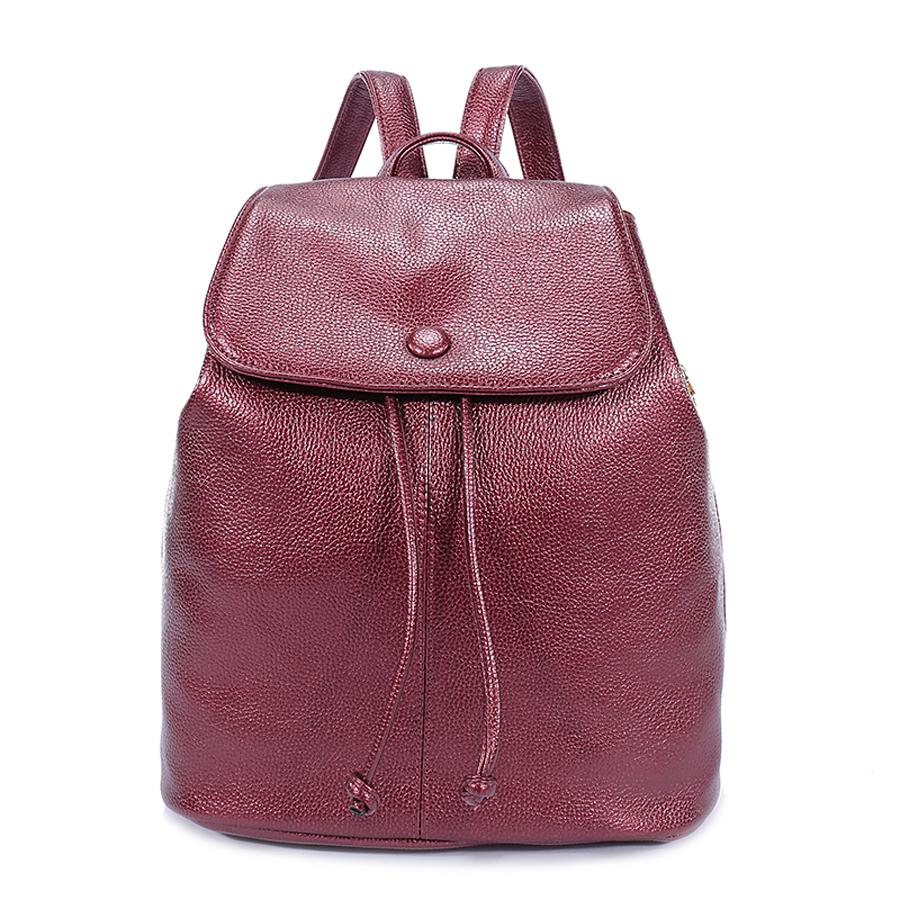 Рюкзак женский Orsa Oro, цвет: марсала. D-179/30D-179/30Стильный женский рюкзак Orsa Oro выполнен из экокожи с зернистой фактурой. Изделие с клапаном на застежках-завязках дополнено металлической застежкой-кнопкой. Задняя и боковые стороны оформлены врезными карманами на молнии. Внутри изделие содержит два накладных кармана и один врезной карман на молнии. Рюкзак оснащен удобными плечевыми лямками регулируемой длины, а также петлей для подвешивания.
