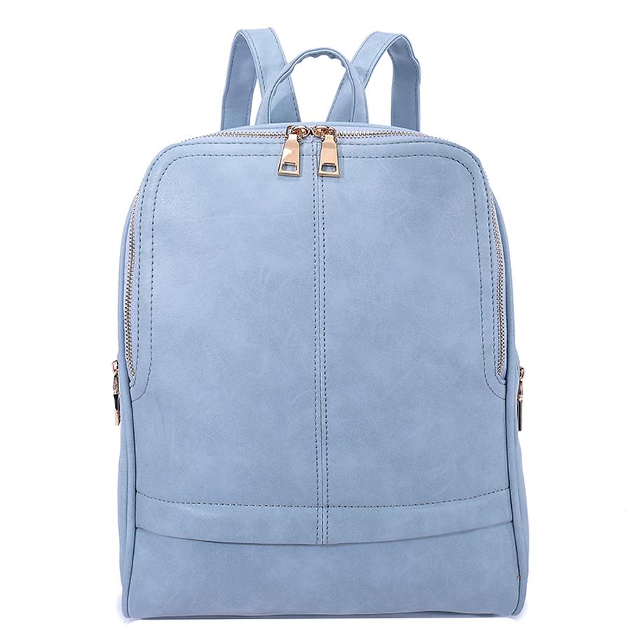 Рюкзак женский Ors Oro, цвет: серо-голубой. D-182/37D-182/37Рюкзак с одним отделением, на молнии, один передний карман на молнии, два боковых кармана на молнии. Внутренний карман на молнии, карман для телефона, задний карман на молнии