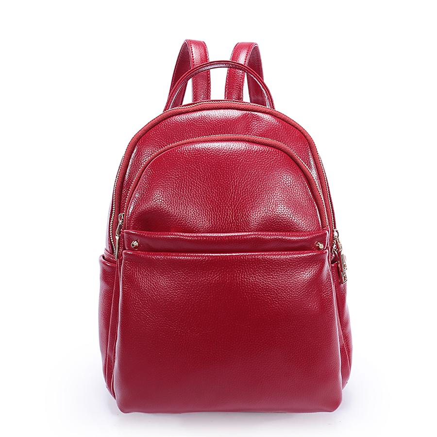 Рюкзак женский Ors Oro, цвет: красный. D-183/25D-183/25Рюкзак с двумя отделениями на молнии, передний карман на молнии, два плоских боковых кармана. Внутренний карман на молнии, карман для телефона, задний карман на молнии