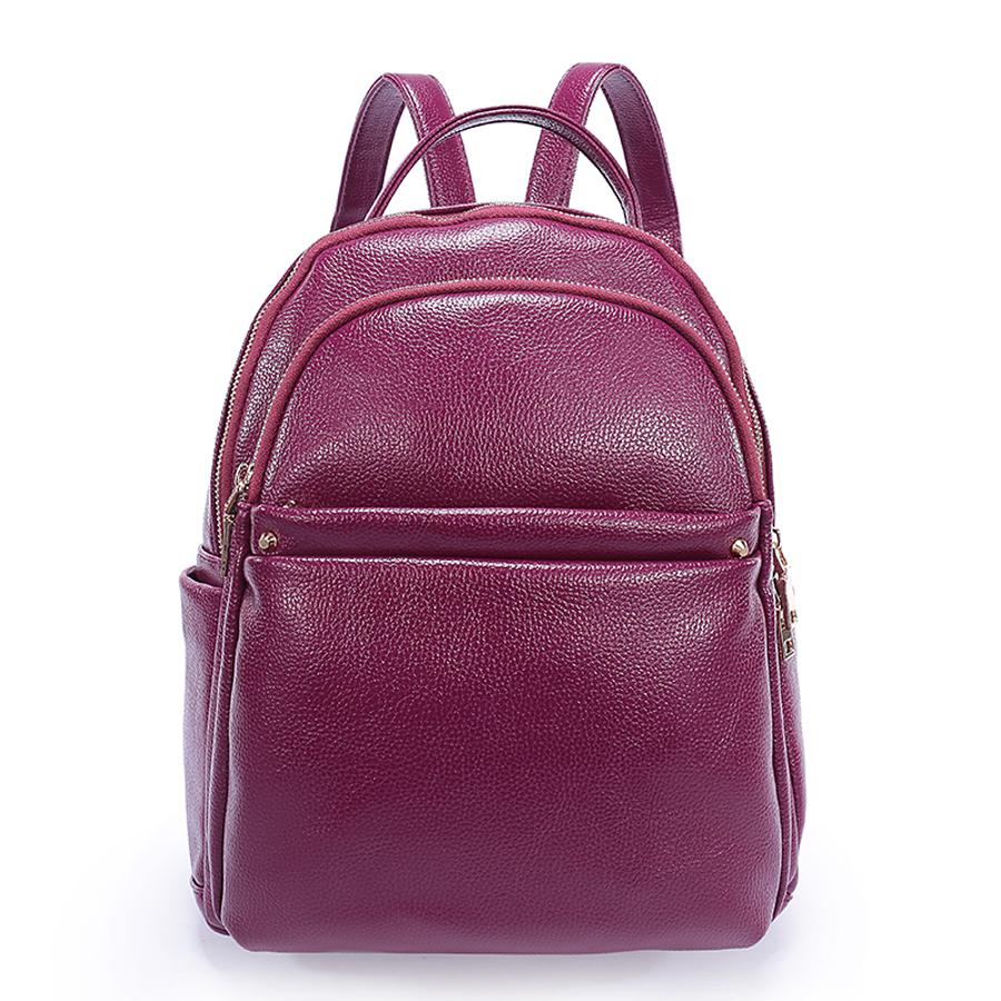 Рюкзак женский Ors Oro, цвет: темнаяфуксия. D-183/47D-183/47Рюкзак с двумя отделениями на молнии, передний карман на молнии, два плоских боковых кармана. Внутренний карман на молнии, карман для телефона, задний карман на молнии