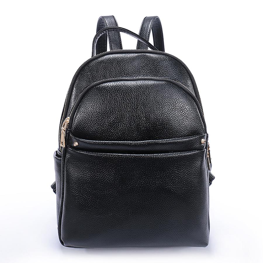 Рюкзак женский Ors Oro, цвет: черный. D-183/59D-183/59Рюкзак с двумя отделениями на молнии, передний карман на молнии, два плоских боковых кармана. Внутренний карман на молнии, карман для телефона, задний карман на молнии