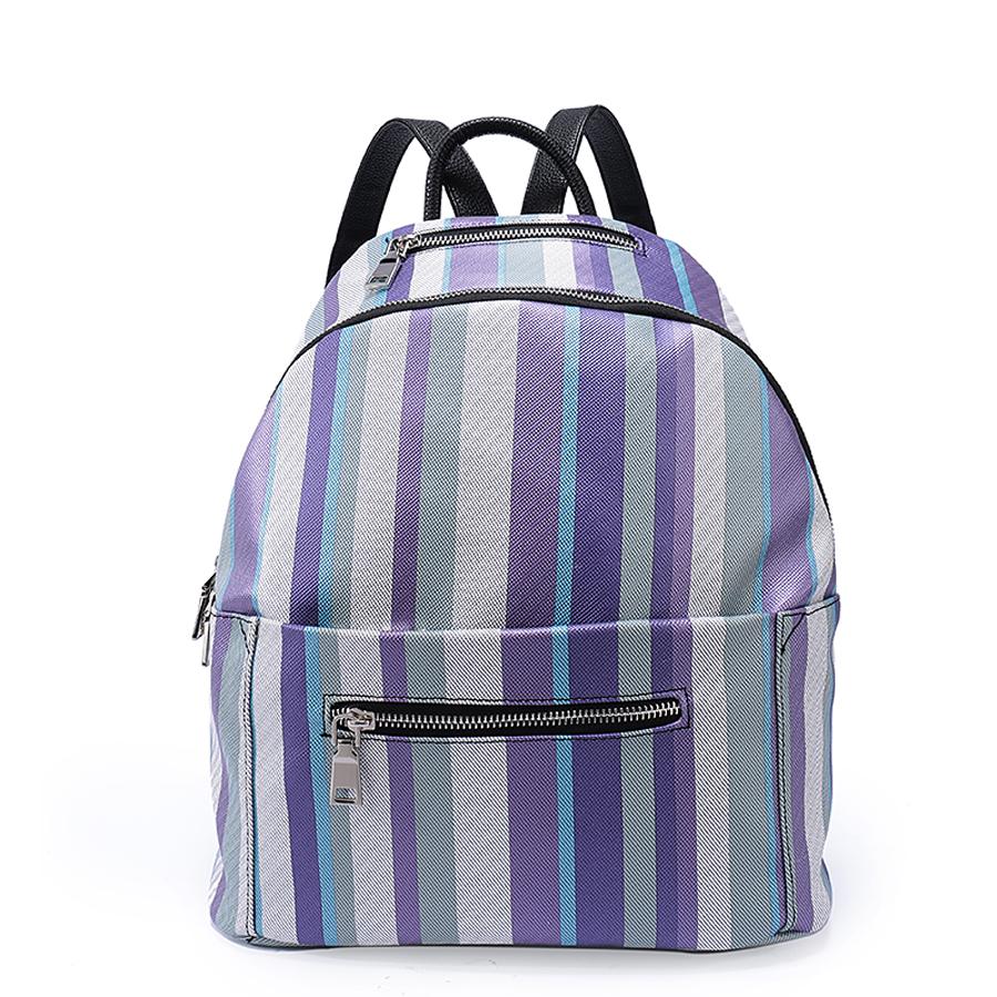 Рюкзак женский Ors Oro, цвет: лиловый. D-187/67D-187/67Рюкзак с одним отделением, два передних кармана на молнии . Внутренний карман на молнии, карман для телефона, задний карман на молнии, карман вверху на молнии под ручкой.