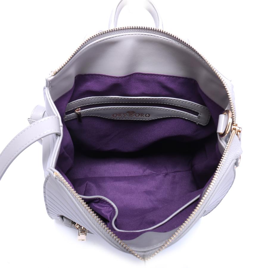 Рюкзак женский Ors Oro, цвет: серый. D-190/39