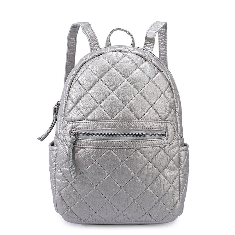 Рюкзак женский Ors Oro, цвет: серебро. D-191/36D-191/36Рюкзак с одним отделением на молнии, передний карман на молнии,два плоских боковых кармана, внутренний карман на молнии, карман для телефона, задний карман на молнии.