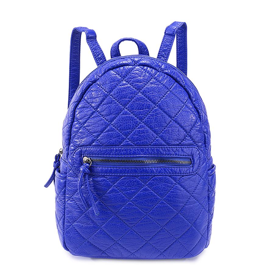 Рюкзак женский Ors Oro, цвет: синий. D-191/41D-191/41Рюкзак с одним отделением на молнии, передний карман на молнии,два плоских боковых кармана, внутренний карман на молнии, карман для телефона, задний карман на молнии.