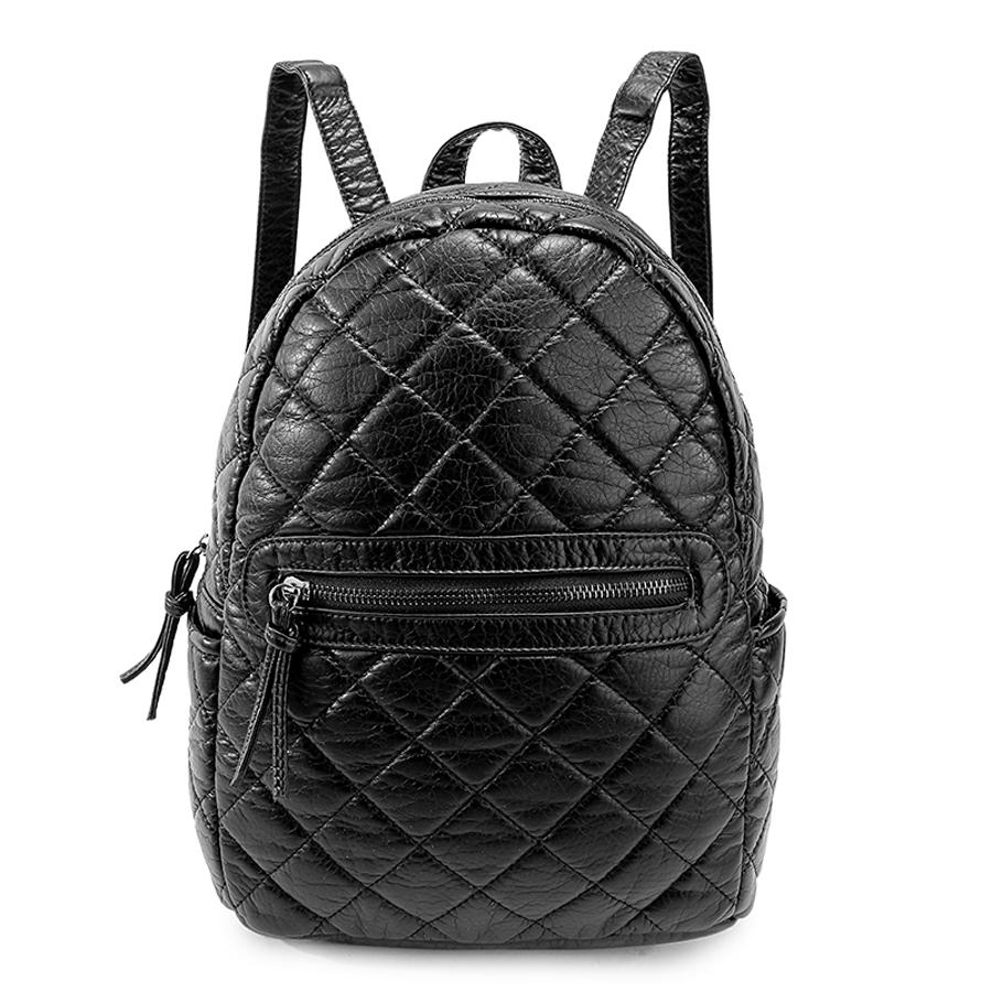 Рюкзак женский Ors Oro, цвет: черный. D-191/59D-191/59Рюкзак с одним отделением на молнии, передний карман на молнии,два плоских боковых кармана, внутренний карман на молнии, карман для телефона, задний карман на молнии.
