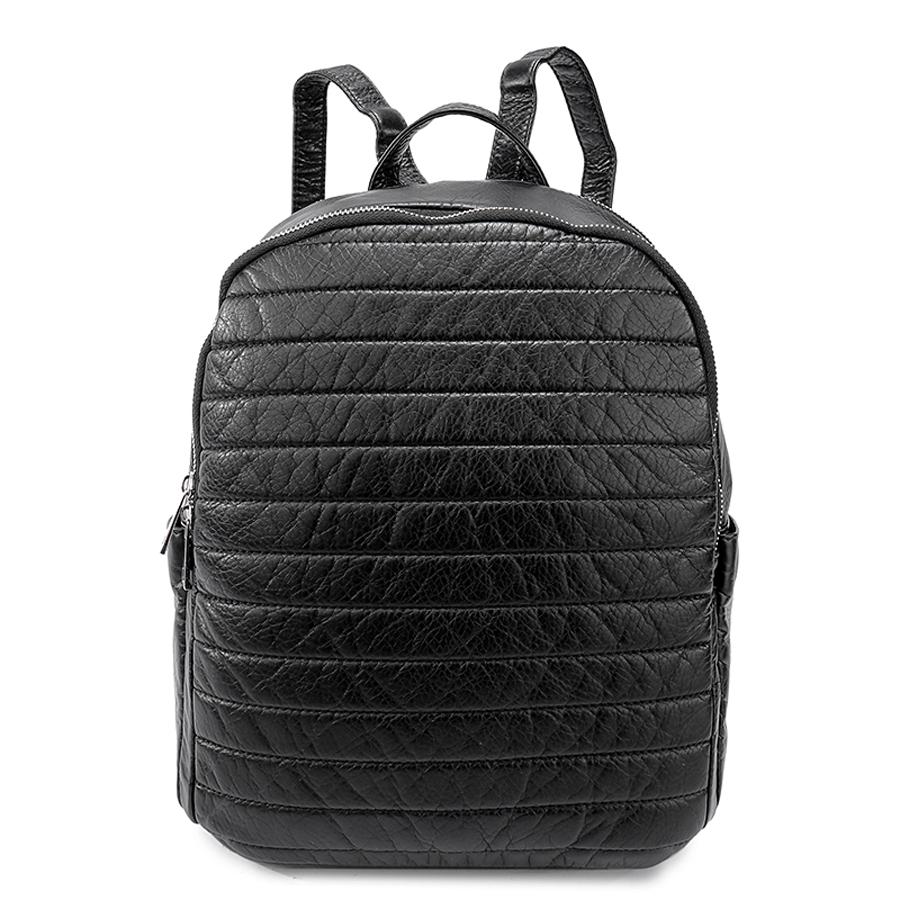 Рюкзак женский Ors Oro, цвет: черный. D-192/59D-192/59Рюкзак с двумя отделениями на молнии. Два плоских боковх кармана. Внутренний карман на молнии, карман для телефона, задний карман на молнии.