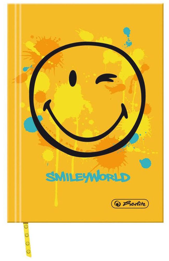 Herlitz Книжка записная Smiley World 96 листов в клетку11276458Получите ежедневную дозу Рок н ролла с новой дизайнерской серией Smiley World! Клевые и прикольные смайлы, «шахматный» дизайн, а также различные детали рок-культуры, такие как гитары или розы, стилизованные под тату, привлекут внимание любого подростка. Удобная записная книжка Herlitz Smiley World пригодится для ведения рабочих или школьных записей, заметок. Она содержит 96 листов формата А6 в клетку без полей. На каждом листе изображен веселый подмигивающий смайлик. Обложка выполнена из качественного картона, склеенный внутренний блок гарантирует надежное крепление листов. Записная книжка от Herlitz Smiley World станет достойным аксессуаром среди ваших канцелярских принадлежностей.