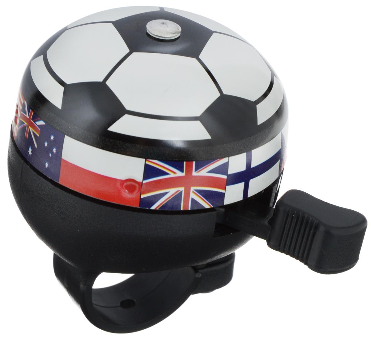 Звонок велосипедный Odinn Футбольный мячJH-801-2/13002Фигурный звонок Odinn Футбольный мяч крепится на руль велосипеда и позволяет привлечь внимание. Звонок выполнен из высокопрочных материалов, долговечен в использовании. Основным его назначением является предотвращения столкновения, как на дорогах общего пользования, так и на тротуарах. Диаметр звонка: 4,5 см.
