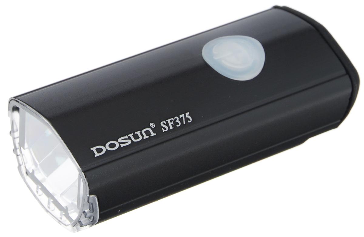 Фара велосипедная светодиодная Dosun SF-375, с зарядкой от USB, цвет: черныйSF-375-Black/5050Светодиодная велосипедная фара Dosun SF-375 сделает ваш велосипед более заметным в темное время суток и обеспечит безопасность на дороге. Водонепроницаемый, устойчивый к царапинам корпус модели имеет изысканные формы. Фара оснащена ярким светодиодом мощностью 375 лм. Работает в трех различных режимах: сильное освещение, слабое освещение, мигание. Благодаря специальному креплению изделие легко устанавливается на руль. Удобная конструкция фары позволяет быстро устанавливать или снимать ее без каких- либо инструментов. Устанавливается на любые модели велосипедов. Встроенный аккумулятор заряжается с помощью USB-кабеля. Емкость аккумулятора: 1500 mAh Li-ion Polymer. Время зарядки: 4 часа. Диаметр штанги руля: 25,4-31,8 мм.