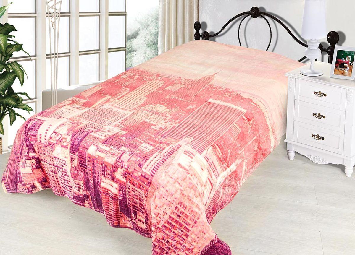 Плед ТД Текстиль Absolute, печатный, 180 х 230 см, цвет: белый, серый86036плотность 290 гр/м2
