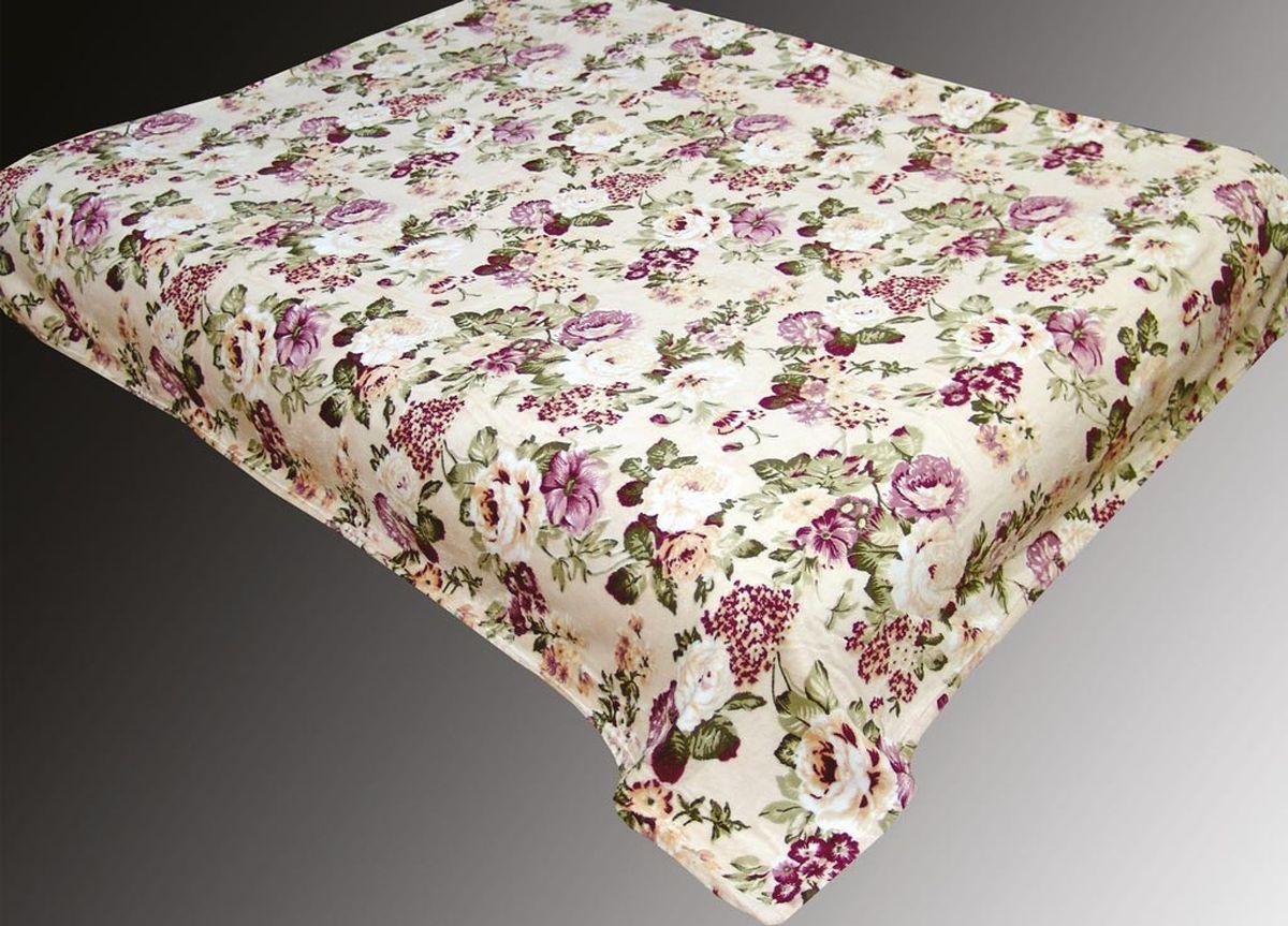 Плед ТД Текстиль Absolute, печатный, 180 х 230 см, цвет: серый, черный86062плотность 660 гр/м2