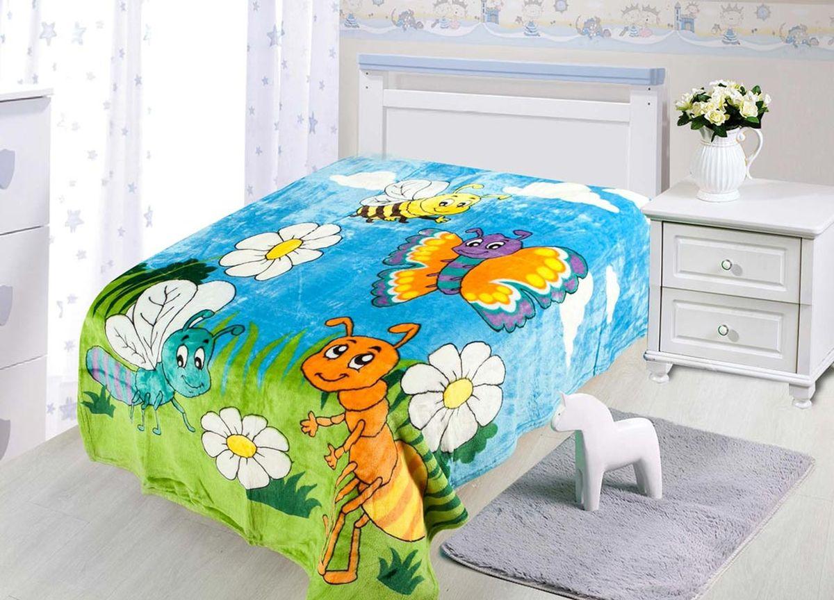 Плед ТД Текстиль Absolute, печатный, 180 х 230 см, цвет: белый, коричневый86081плотность 230 гр/м2