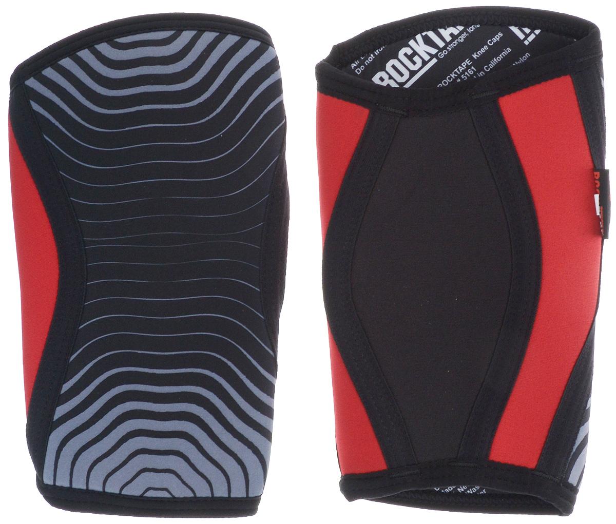 Rocktape Наколенники KneeCaps, цвет: красный, 5мм. Размер SRTKnCps-Rd-5-S