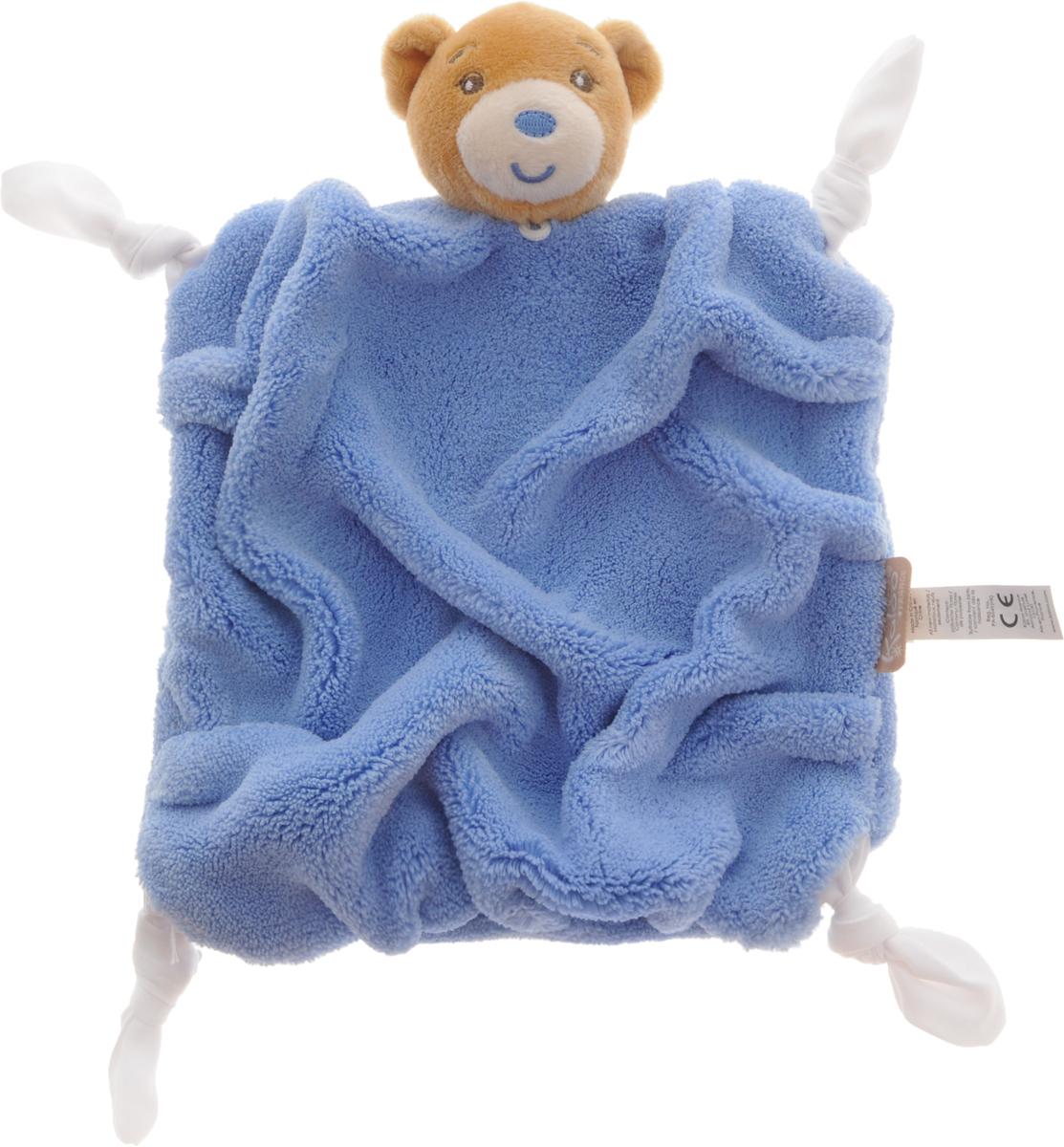 Kaloo Игрушка-комфортер Мишка цвет голубойK962305Уникальный аксессуар - игрушка-комфортер Kaloo Мишка позволит малышу спокойно и сладко уснуть, и на долгое время станет его постоянным спутником. Особенность игрушки-комфортера состоит в том, что сначала маме необходимо некоторое время подержать игрушку рядом с собой для того, чтобы она впитала материнский запах. После чего игрушку можно дать и малышу. Младенцу будет очень комфортно засыпать с такой игрушкой, она позволит ему быстро успокоиться и сладко заснуть. Со временем комфортер станет не просто игрушкой для сна, но и любимым защитником от плохих сновидений и детских страхов. Игрушку приятно держать в руках и прижимать к себе. Игрушка выполнена из качественных и безопасных для здоровья детей материалов, которые не вызывают аллергии, приятны на ощупь и доставляют большое удовольствие во время игр. Игры с мягкими игрушками развивают тактильную чувствительность и сенсорное восприятие. Комфортер выполнен в приятном цвете, на уголках завязаны узелочки. Очаровательный мягкий...