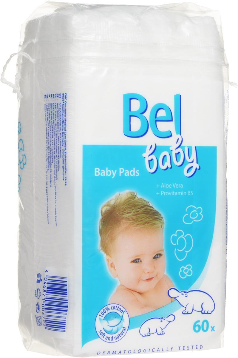 Hartmann Детские ватные подушечки Bel Baby Pads, 60 шт9185611Детские ватные подушечки Bel Baby Pads изготовлены из 100% хлопка и предназначены для бережного очищения и нанесения крема, лосьона, масла на кожу ребенка. Быстро пропитываются детским маслом или водой. Содержат алоэ вера и провитамин B5. Дерматологически протестированы.