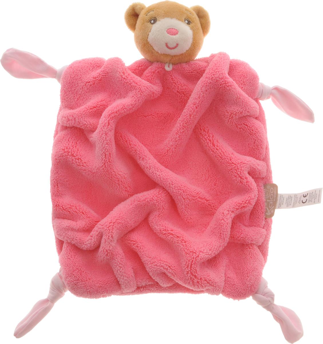 Kaloo Игрушка-комфортер Мишка цвет розовый светло-коричневыйK962306Игрушка-комфортер Мишка позволит малышу спокойно и сладко уснуть. Особенность игрушки-комфортера состоит в том, что сначала маме необходимо некоторое время подержать игрушку рядом с собой для того, чтобы она впитала материнский запах. После чего игрушку можно дать и малышу. Младенцу будет очень комфортно засыпать с такой игрушкой, она позволит ему быстро успокоиться и сладко заснуть. Со временем комфортер станет не только игрушкой для сна, но и любимым защитником от плохих сновидений и детских страхов. Комфортер выполнен в насыщенном розовом цвете, на уголках завязаны узелочки. Игры с мягкими игрушками развивают тактильную чувствительность и сенсорное восприятие. Изделие изготовлено из качественных и безопасных для здоровья детей материалов, которые не вызывают аллергии.