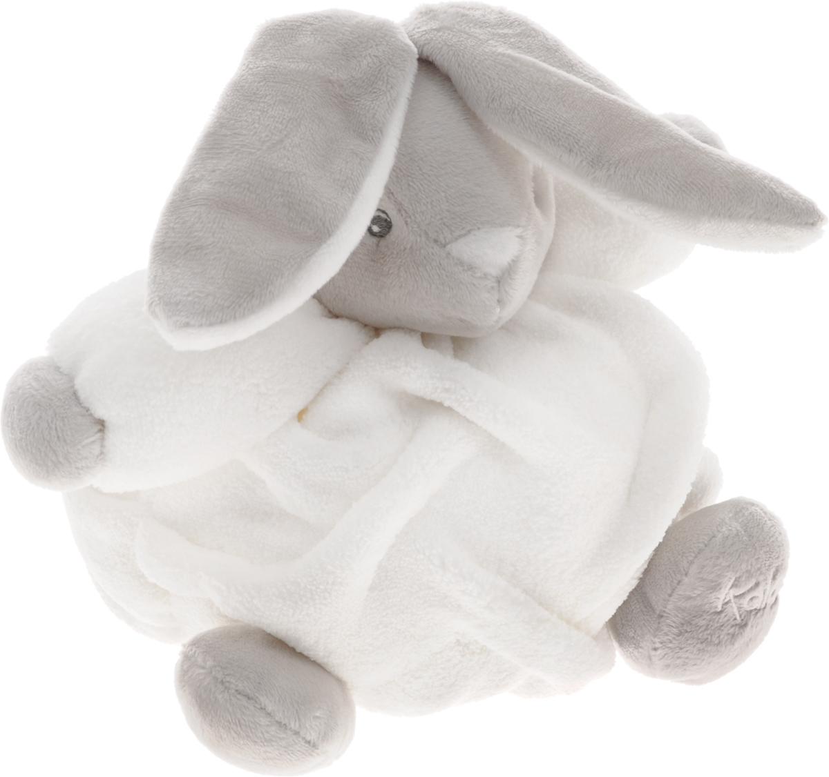 Kaloo Мягкая музыкальная игрушка Заяц цвет белый серый 17 смK962316Очаровательный мягкий музыкальный зайчонок Kaloo надолго станет постоянным спутником малыша и позволит ему сладко уснуть. Игрушка выполнена из качественных и безопасных для здоровья детей материалов, которые не вызывают аллергии, приятны на ощупь и доставляют большое удовольствие во время игр. Игрушку приятно держать в руках, прижимать к себе и придумывать разнообразные игры. Игры с мягкими игрушками развивают тактильную чувствительность и сенсорное восприятие. Зайчик выполнен в нежных цветах. На обратной стороне игрушки находится маленькая ленточка, потянув за которую, малыш услышит мелодичную колыбельную. Все игрушки Kaloo прошли множественные тесты и соответствуют мировым стандартам безопасности. Именно поэтому все игрушки рекомендованы для детей с рождения, что отличает их от большинства производителей мягких игрушек. Игрушка поставляется в стильной коробке и идеально подходит в качестве подарка.