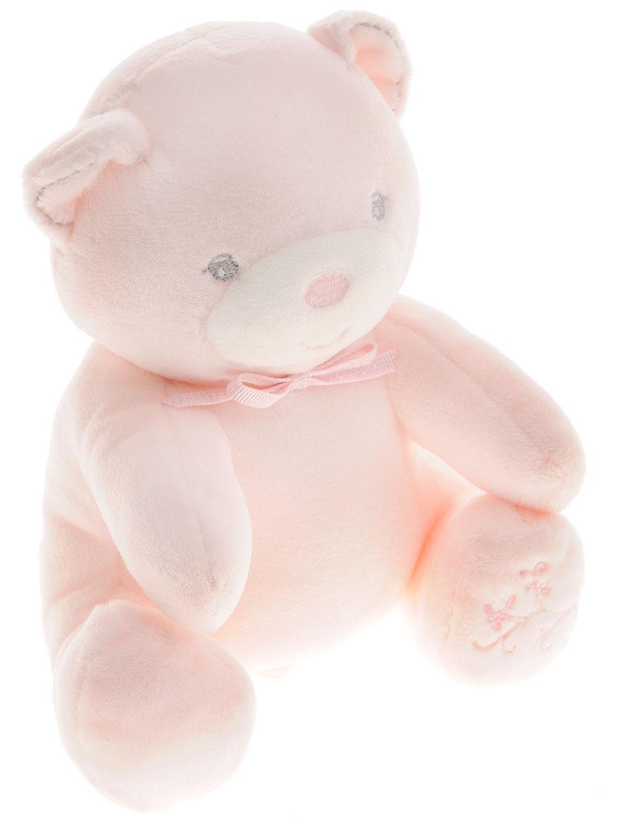 Kaloo Мягкая музыкальная игрушка Мишка цвет розовый 17 смK962166Великолепный мягкий музыкальный медвежонок Kaloo надолго станет постоянным спутником малыша и позволит ему сладко уснуть. Игрушка выполнена из качественных и безопасных для здоровья материалов, которые не вызывают аллергии, приятны на ощупь и доставляют большое удовольствие во время игр. Игрушку приятно держать в руках, прижимать к себе и придумывать разнообразные игры. Игры с мягкими игрушками развивают тактильную чувствительность и сенсорное восприятие. Медвежонок выполнен в розовом цвете, лапка его украшена красивой вышивкой. На обратной стороне игрушки находится маленькая ленточка, потянув за которую, малыш услышит мелодичную колыбельную. Специальные гранулы, используемые при набивке игрушки, способствуют развитию мелкой моторики рук малыша. Дизайнеры Kaloo продумывают и придают значение каждому этапу в производстве игрушек, начиная от эскиза и заканчивая упаковкой готового изделия. Все игрушки прошли множественные тесты и соответствуют...