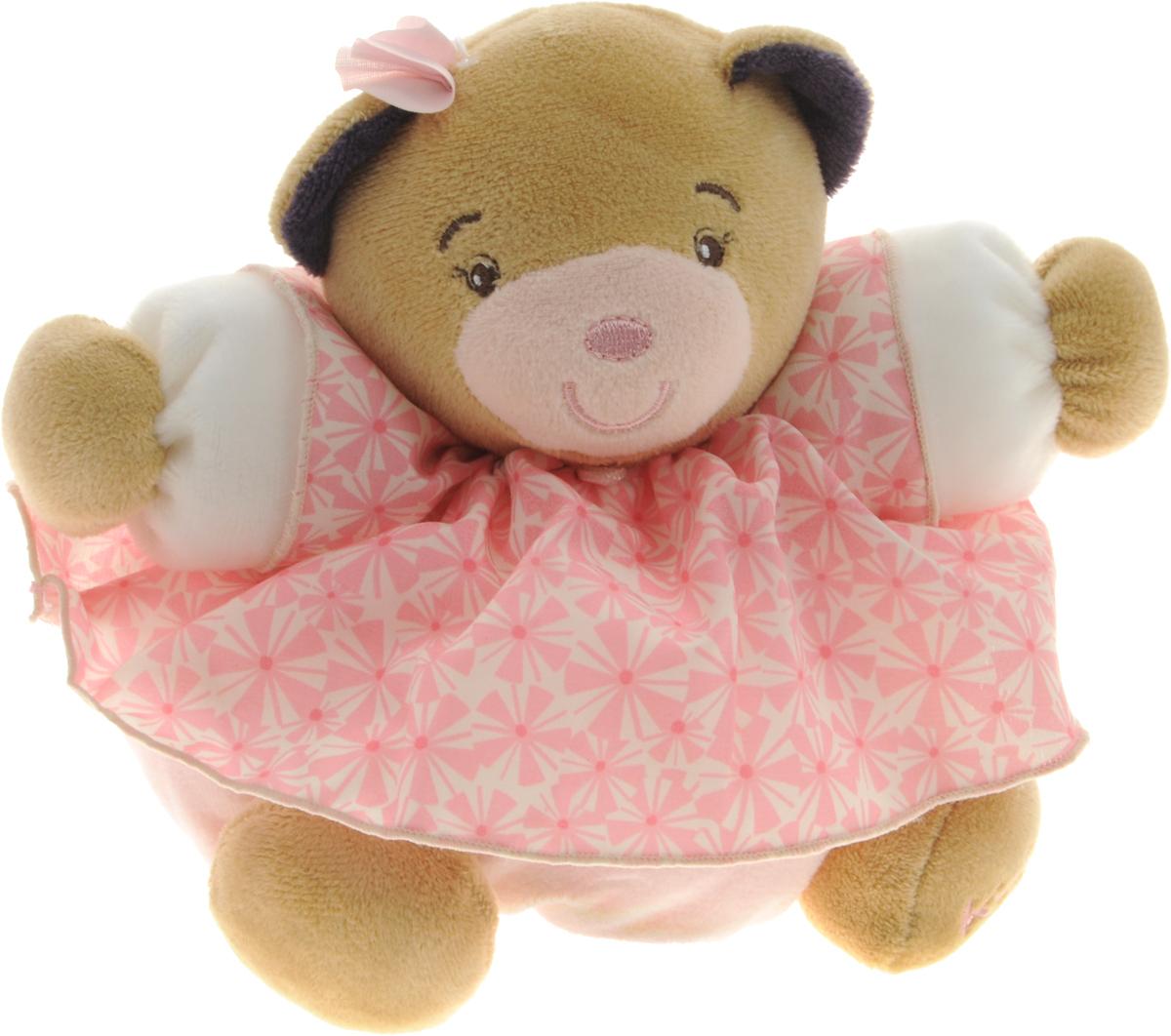 Kaloo Мягкая игрушка Мишка в розовом платье 15 смK969861Мягкая игрушка Kaloo Мишка надолго станет постоянным спутником малыша и его любимой игрушкой. Изделие выполнено из мягкого материала различных цветов. Медвежонок одет в милое платье, оформленное принтом. На левой лапке у мишки вышит логотип бренда. Игры с мягкими игрушками развивают тактильную чувствительность и сенсорное восприятие. После стирки изделие не деформируется и не меняет внешний вид. Все игрушки Kaloo прошли множественные тесты и соответствуют мировым стандартам безопасности. Именно поэтому игрушки рекомендованы для детей с рождения, что отличает их от большинства производителей мягких игрушек. Дизайнеры Kaloo продумывают и придают значение каждому этапу в производстве игрушек, начиная от эскиза и заканчивая упаковкой готового изделия.