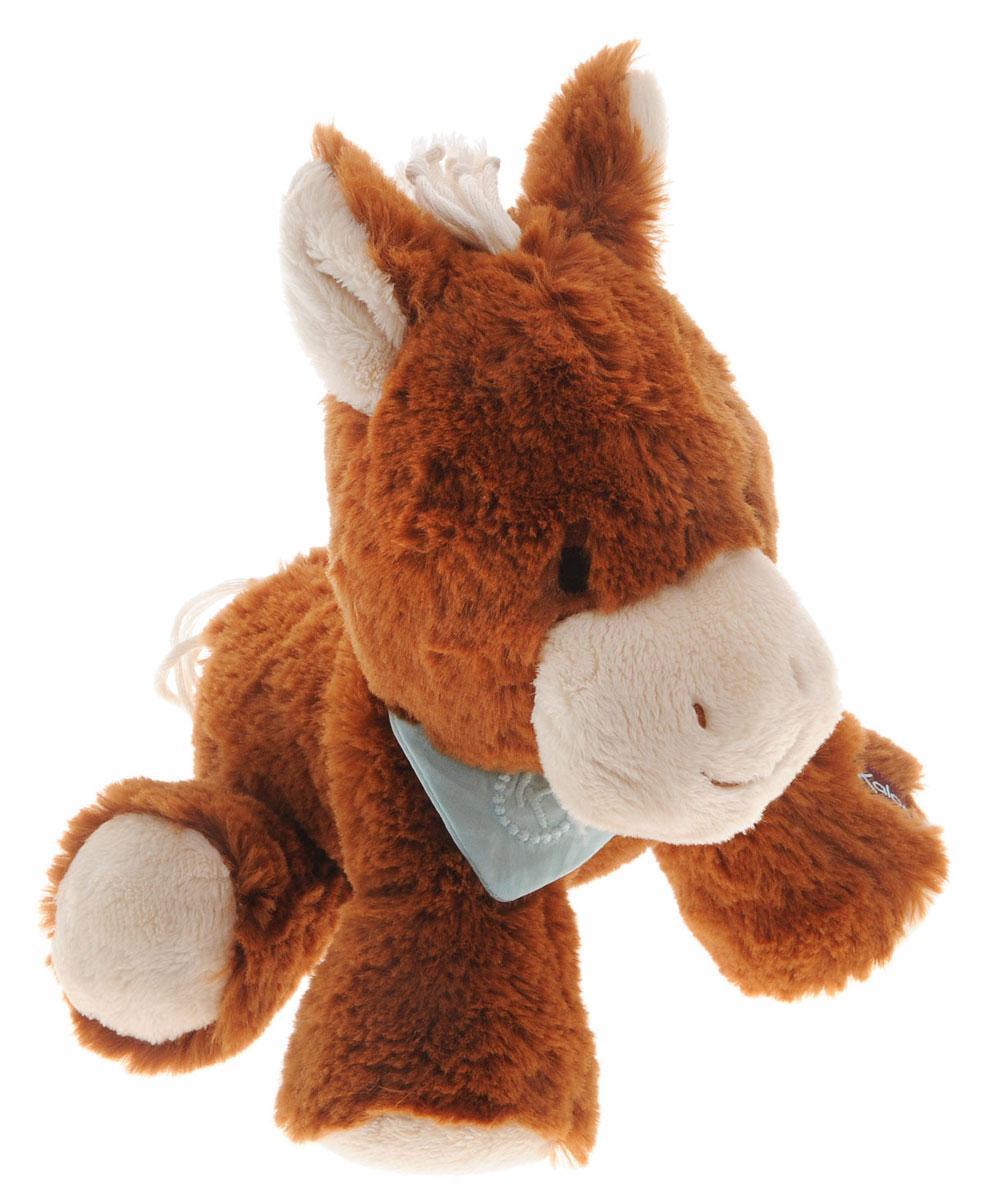 Kaloo Мягкая игрушка Лошадка 25 смK963002Очаровательная мягкая лошадка Kaloo на долгие годы станет одной из самых любимых игрушек вашего малыша. Лошадка выполнена в коричневом цвете. На шее у лошадки повязан светло-бирюзовый платочек. Игрушка выполнена из качественных и безопасных для здоровья детей материалов, которые не вызывают аллергии, приятны на ощупь и доставляют большое удовольствие во время игр. Игрушку приятно держать в руках, прижимать к себе и придумывать разнообразные игры. Игры с мягкими игрушками развивают тактильную чувствительность и сенсорное восприятие. Все игрушки Kaloo прошли множественные тесты и соответствуют мировым стандартам безопасности. Именно поэтому все игрушки рекомендованы для детей с рождения, что отличает их от большинства производителей мягких игрушек. Игрушка поставляется в стильной коробке и идеально подходит в качестве подарка.