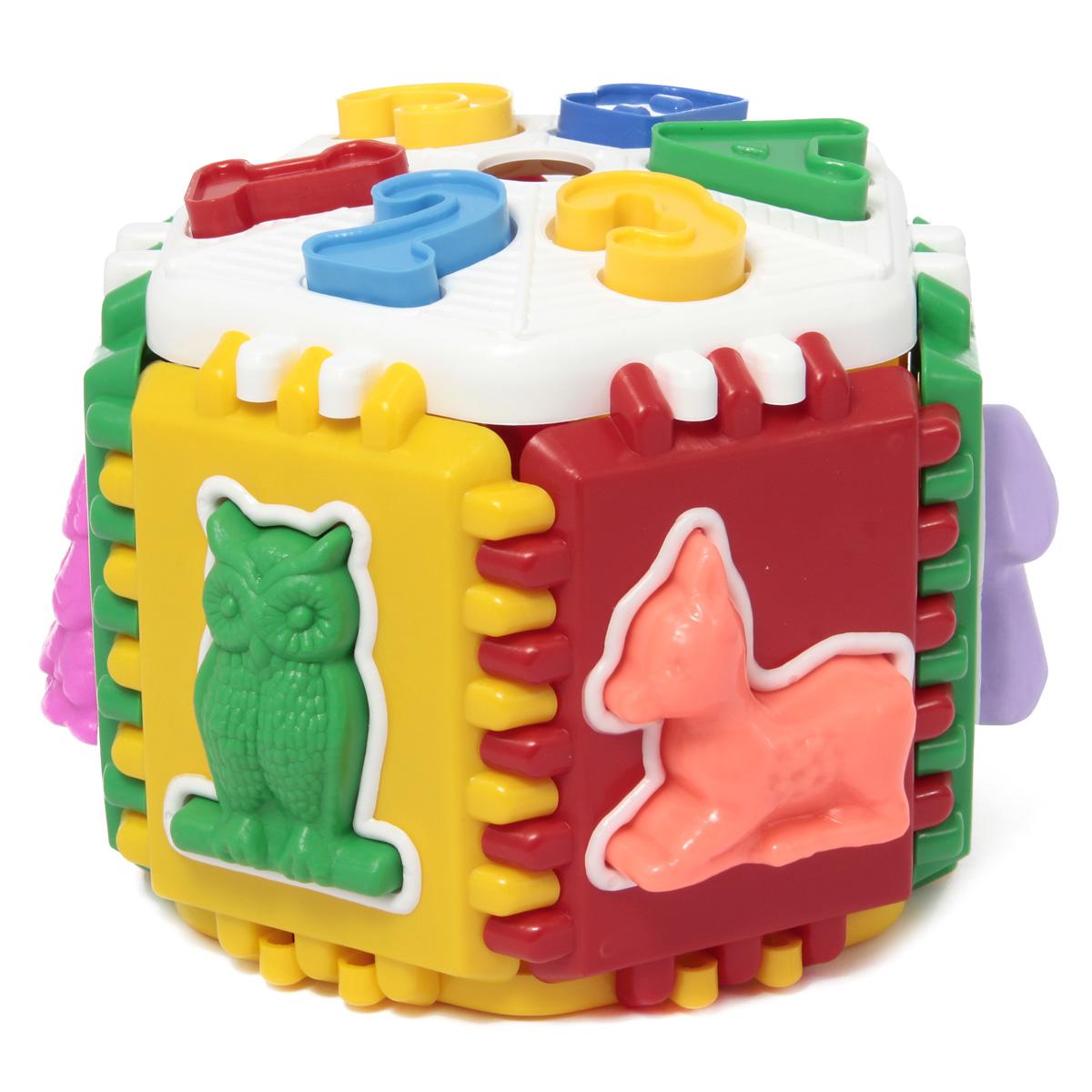 Развивающая игрушка Логика лесная школа/26П-0384Диаметр кольца: 14 см. Логический и обучающий центр для малышей. Развивает цветовосприятие, мелкую моторику рук, логическое мышление и пространственное воображение. Знакомит детей с геометрическими фигурами. Игрушка полностью разбирается (стенки игрушки соединяются по принципу пазлов). Материал: пластик