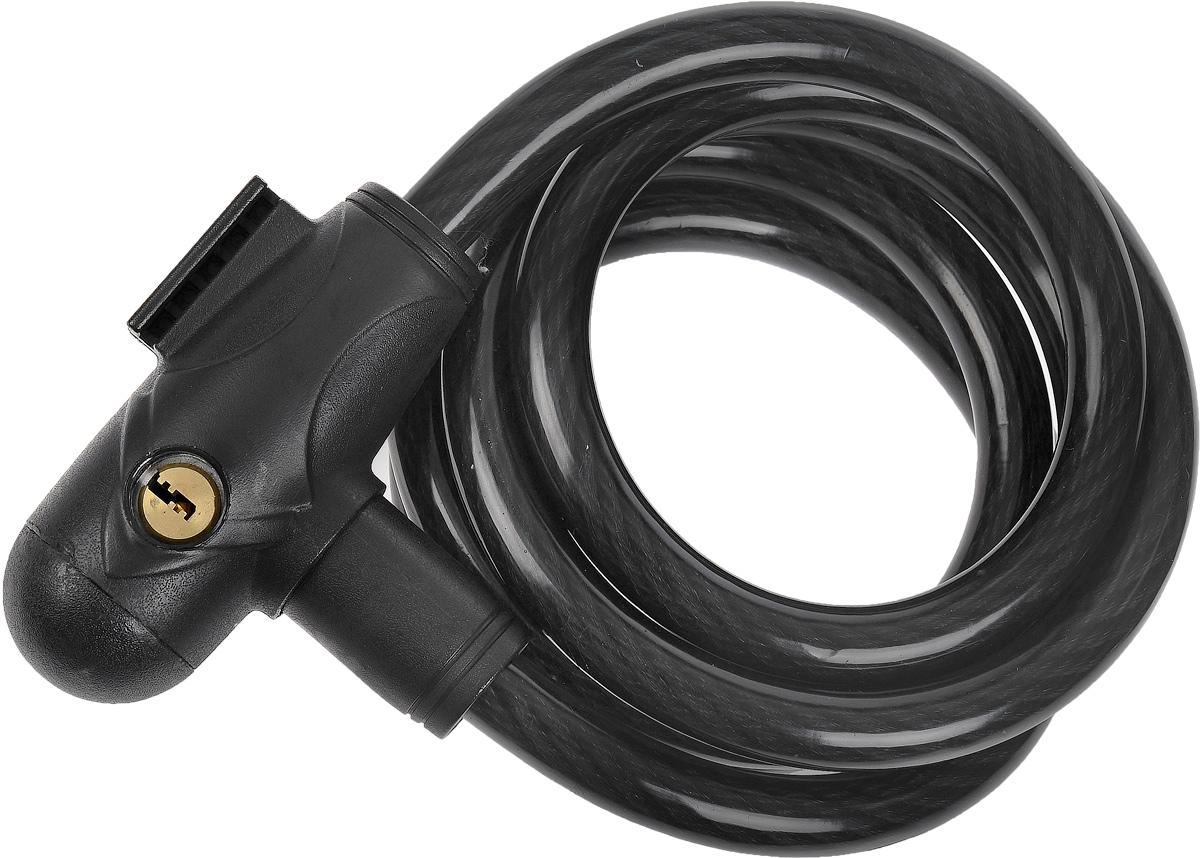 Велозамок HandyWay, с ключами, диаметр 15 мм, длина 1,8 мCL-2000 W/BL-718Велосипедный замок HandyWay - это отличная вещь для сохранности вашего велосипеда. Замок оснащен металлическим тросом обтянутым мягким ПВХ. Блокируется при помощи ключа. В комплекте крепление к велосипеду и 2 ключа. Диаметр троса: 15 мм. Длина: 1,8 м.