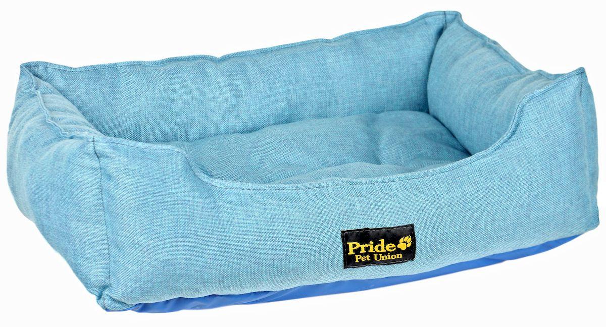 Лежак для животных Pride Прованс, цвет: голубой, 58 х 48 х 15 см10012221Лежак для животных Pride Прованс прекрасно подойдет для отдыха вашего домашнего питомца. Предназначен для собак средних и мелких пород. Изделие выполнено из прочной ткани. Снабжено невысокими широкими бортиками. Комфортный и уютный лежак обязательно понравится вашему питомцу, животное сможет там отдохнуть и выспаться. Размер лежака: 58 х 48 х 15 см. Состав: 100% полиэстер. Наполнитель: 100% холлофайбер.
