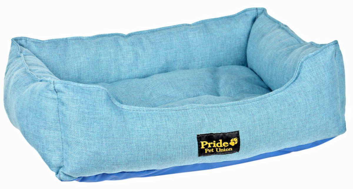 Лежак для животных Pride Прованс, цвет: голубой, 70 х 60 х 23 см10012222Лежак Pride Прованс непременно станет любимым местом отдыха вашего домашнего животного. Изделие выполнено из полиэстера, а наполнитель - из холлофайбера. Такой материал не теряет своей формы долгое время. Внутри имеется мягкая съемная подстилка. На таком лежаке вашему любимцу будет мягко и тепло. Он подарит вашему питомцу ощущение уюта и уединенности.