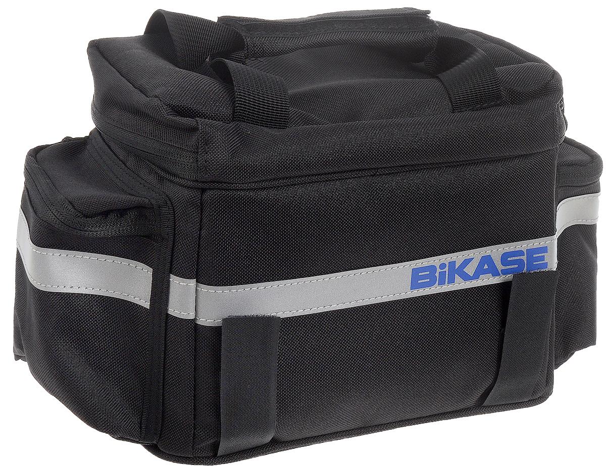 Термосумка на багажник велосипеда BiKase KoolPAK, 33 х 20 х 16 смAG011Термосумка BiKase KoolPAK предназначена для размещения на багажнике или руле велосипеда. Термоизоляционный материал сохраняет температуру внутри сумки. Изделие крепится при помощи ремней на липучках. Внутри имеется одно вместительное отделение. Сумка оснащена ручкой для переноски, светоотражающими вставками и двумя внешними боковыми карманами.