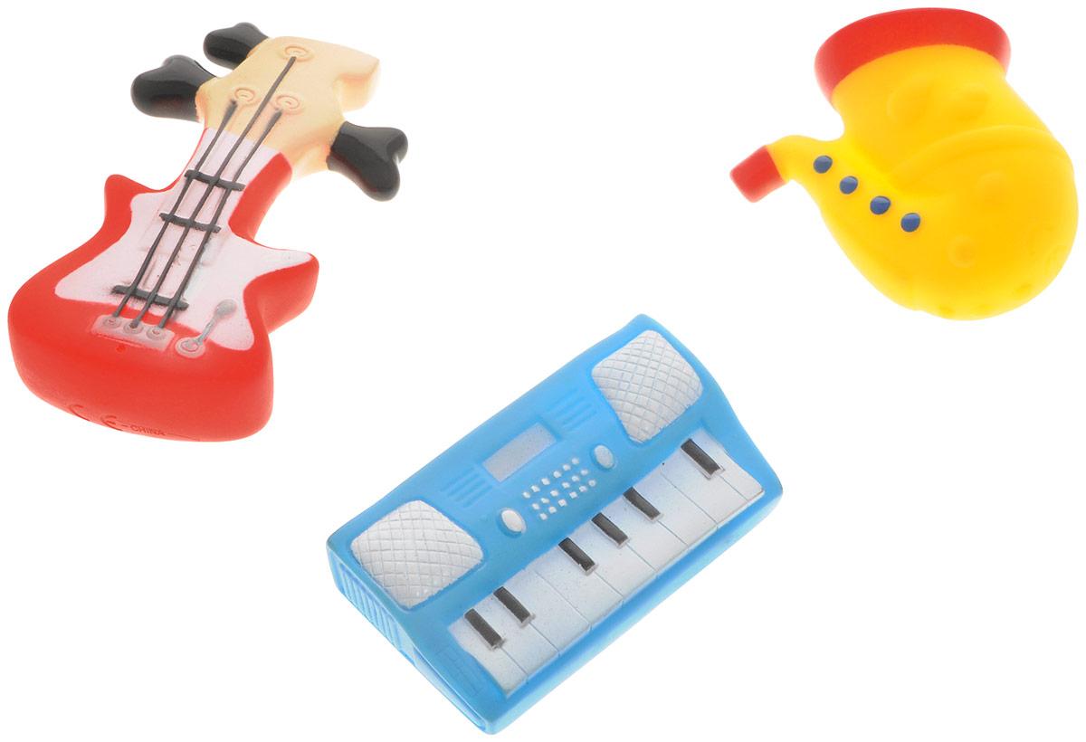 Жирафики Набор игрушек для ванной Маленький оркестр 3 шт681102Набор игрушек для ванной Жирафики Маленький оркестр привлечет внимание вашего малыша и не позволит ему скучать. При сжатии в руке забавные игрушки весело брызгаются предварительно набранной водой. В набор входят: гитара, саксофон, синтезатор. Эти чудесные игрушки можно окунать в воду, мять, слюнявить, грызть, кидать. Выполненные из качественного, гипоаллергенного ПВХ-пластизоля, игрушки будут радовать малыша долгое время. Игрушки способствуют развитию мелкой моторики, сенсорного восприятия и воображения.