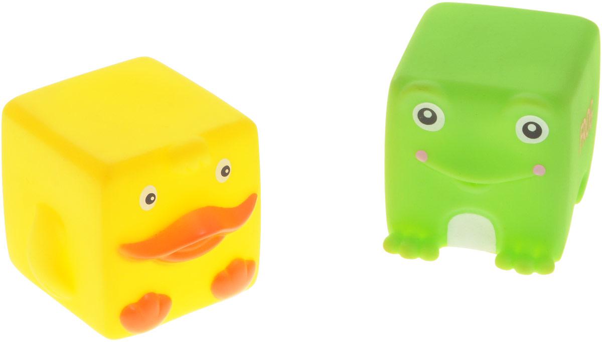 Жирафики Набор игрушек для ванной Утка и лягушка 2 шт681061Набор игрушек для ванной Жирафики Утка и лягушка привлечет внимание вашего малыша и не позволит ему скучать. При сжатии в руке забавные игрушки весело брызгаются предварительно набранной водой. Эти чудесные игрушки можно окунать в воду, мять, слюнявить, грызть, кидать. Выполненные из качественного, гипоаллергенного ПВХ-пластизоля, игрушки будут радовать малыша долгое время. Игрушки способствуют развитию мелкой моторики, сенсорного восприятия и воображения.