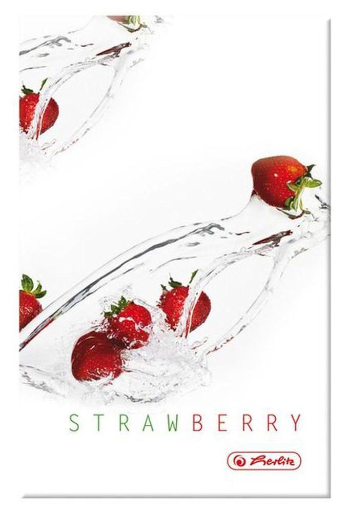 Herlitz Книжка записная Fresh Fruit Клубника 96 листов в клетку формат A6 11292901