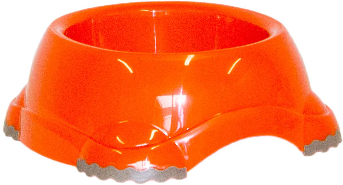 Миска Moderna Smarty bowl, с антискольжением, цвет: оранжевый, 16 х 6 см14H102148Миска для корма и воды из полированного пластика. Ножки миски имеют резиновые накладки для предотвращения скольжения по полу. Качественный пластик не гнется, не ломается, не впитывает запахи, миска легко моется, имеет длительных срок эксплуатации. Стильный дизайн, широкая цветовая гамма. Специально разработанная конструкция для удобства Вашего питомца. Характеристики: Размер миски: 20 х 18 х 7 см; Глубина миски: 6 см; Цвет: оранжевый.