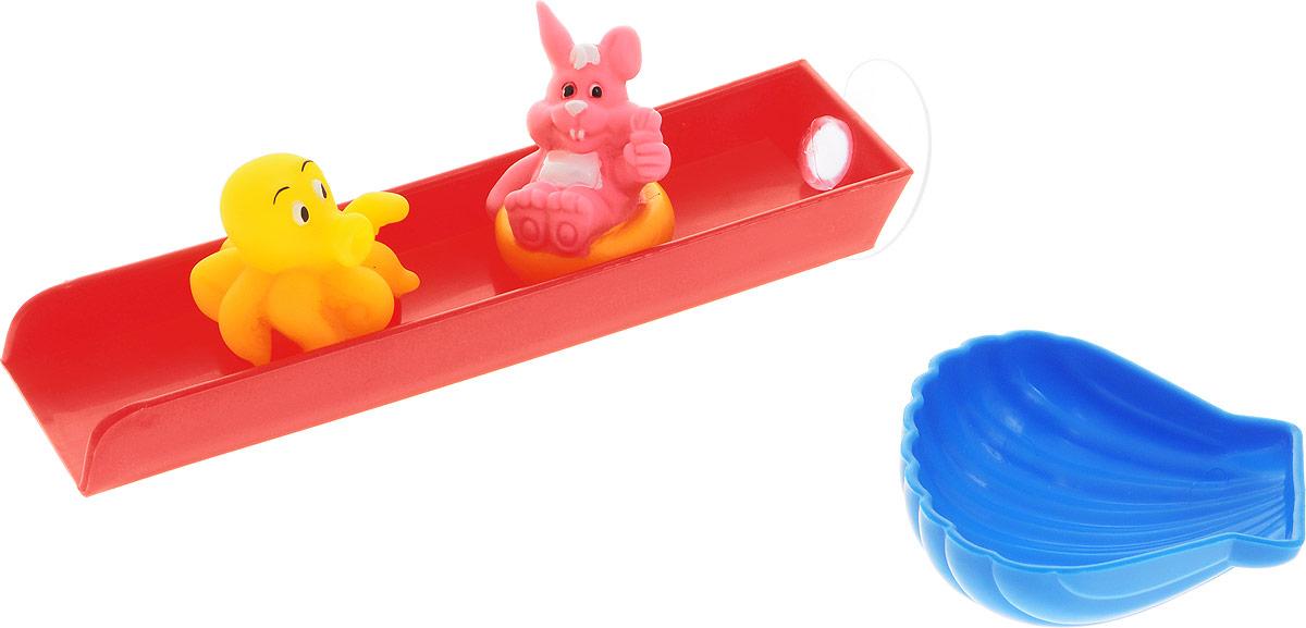 Жирафики Игрушка для ванной Веселые горки681116Игрушка для ванной Жирафики Веселые горки привлечет внимание вашего малыша и не позволит ему скучать. Игрушка состоит из горки с присоской, ковшика в виде морской раковины и двух фигурок. Горка крепится к ванне на присоске. Черпайте ковшиком воду и лейте на горку - фигурки будут скатываться вниз. Выполненная из качественных материалов, игрушка будет радовать малыша долгое время. Игрушка способствует развитию мелкой моторики, сенсорного восприятия и воображения.