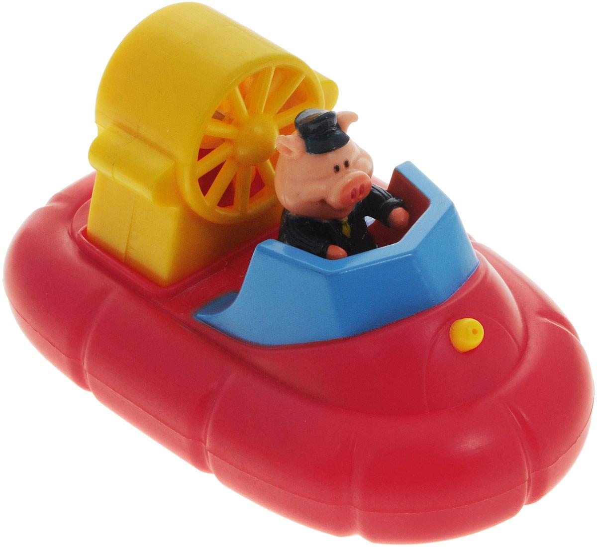 Жирафики Игрушка для ванной Катер681121Игрушка для ванной Жирафики Катер привлечет внимание вашего малыша и не позволит ему скучать. Игрушка выполнена в виде судна на воздушной подушке со свинкой-пилотом. Игрушка имеет встроенный заводной механизм, обеспечивающий вращение винта в днище судна, благодаря чему оно плывет вперед и брызгается водой. Выполненная из качественных материалов, игрушка будет радовать малыша долгое время. Игрушка способствует развитию мелкой моторики, сенсорного восприятия и воображения.